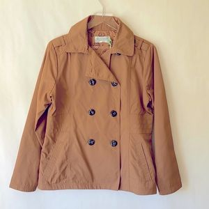 NWT Aventura Trench Style Rust Color Jacket Size M